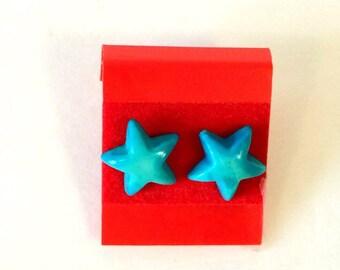 Retro Plastic Star Earrings