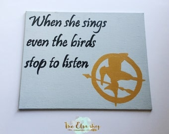 Inspired by Hunger Games Quote Canvas, wall decor, home decor