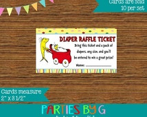 Dr. Seuss One Fish Two Fish Baby Shower Diaper Raffle Tickets Ticket Party Favor Cards  ~ We Print & Ship To You