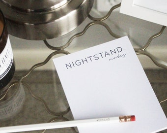 Night Stand Notes Notepad - 50 Page Notepad, Night Table Notepad,
