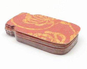 Mason Jar Tags, Gift Tags, Sorbet Pattern Tags, Mason Jar Punches, Scrapbook Punches, Glitter Tags, Set of 20