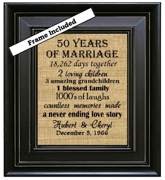 Wedding Anniversary Gifts 50 Years : 50th Anniversary Gift/50 years of marriage/50th wedding anniversary ...