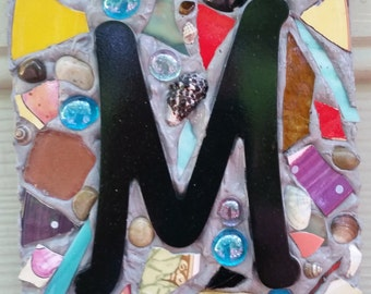Mosaic INITIAL Address Plaque