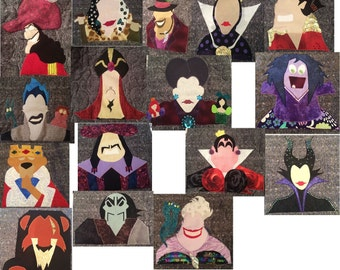 64 % Discount! BUNDLE PACK - Disney Villainns Inspired Applique Patterns - Instant Digital Download