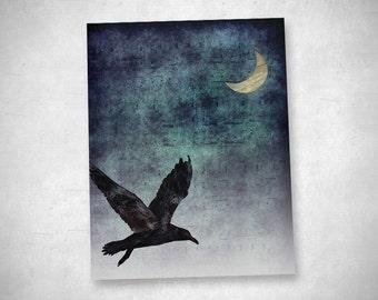 "Decorative card - the bird (""the string II"")"