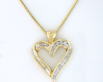 A Big Diamond Heart 1.00tcw for the Woman who is Kind and Full of Love <3 - PENDIA10011