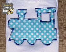 choo choo train applique in 4x4 and 5x7 with BONUS boxcar easy applique design simple embroidery exp pes dst +more Instant Download