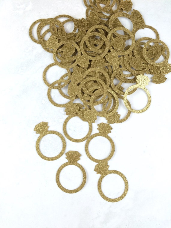 Ring confetti engagement ring engagement party decorations for 5 golden rings decorations