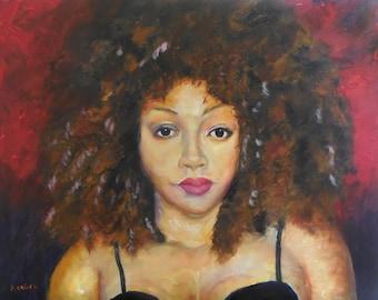 Crown and Glory African American Art Original Art 16 x 20