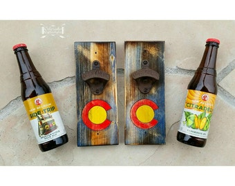 Colorado Lyfestyle bottle opener with rustic opener