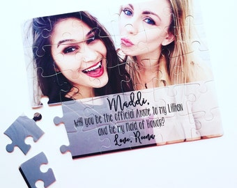 Bridesmaid Proposal Puzzle | Will you be my Maid of Honor Bridesmaid | Bridal Party 007