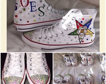 Order of Eastern Star custom Chuck Taylor