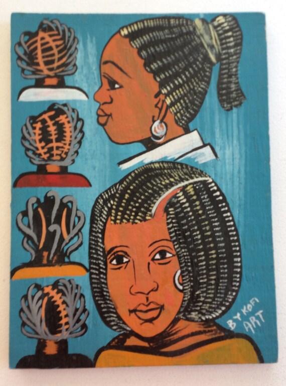 West African Hair Salon Sign