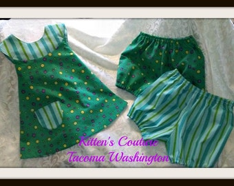 Wrap Over Dots and Stripes, 3 piece set