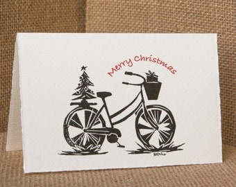 Holiday Bike Card