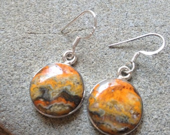 925 Sterling silver earrings/ Bumble Bee Eclipse gemstone earrings