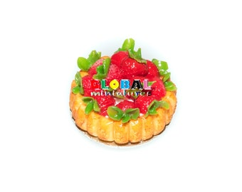 Dollhouse Miniatures Strawberry Tart