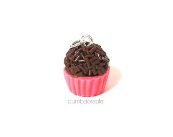 Miniature Food Jewelry - Polymer Clay Brigadeiro Necklace - Miniature Brigadeiro Charm