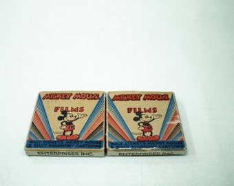 Set of 2 Vintage Mickey Mouse Films
