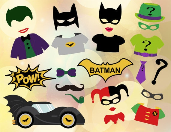 Printable Superhero Photo Booth Props Batman By