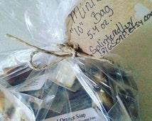 10 Organic Soaps/Mini Soap Bag/Soap Samples/Soap Sampler/Sale/Essential Oil Soap/Natural/Vegan/Handmade Soap/Cold Process Soap/Gift Idea