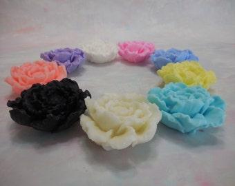 Peony Soap Favors - Peony Soap - Bridal Shower - Wedding Favor - Decorative Peony Flower - Floral Party Favor - Baby Shower Favor - 10 pk