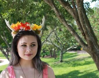 Floral Antler Crown