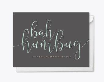 Bah Humbug Holiday Card printable