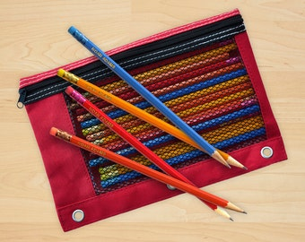 Personalized Pencils in assorted colors with pencil bag - 3375