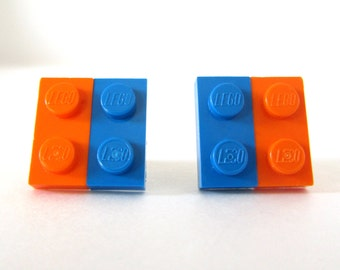 Square earrings made from LEGO® bricks - Unique Earrings, Stud earrings, LEGO® Jewelry, LEGO® Earrings, Unique earrings, Different Earrings