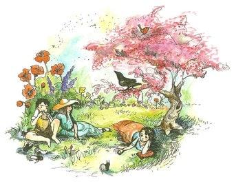 The Secret Garden Tiny Art Print