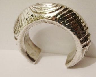 Vintage HUGE 52 Grams Sterling Silver 925, Cuff Bracelet.