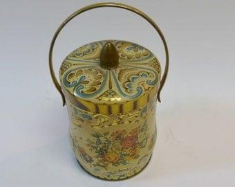Murray Allen Confections tin, flowers candy tin, vintage tin, collectible tin, Murray Allen