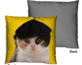 Pillow Cat Yellow
