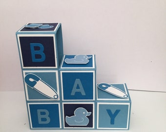 Baby building blocks pop up card