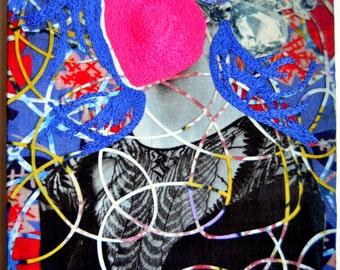 Original Art Piece/ Fibre Art/ Textile Art/ Embroidery Mixed Media