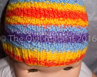 Hand knit baby hat, baby girl hat, baby wool hat, kids knit hat, kids autumn, gift for kids, kids fall, kidswear, UK sellers only