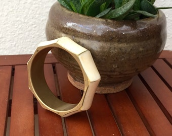 vintage cream bracelet geometric golden