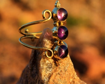 Magical Gemstone Brass Ring DIFFERENT STONES AVAILABLE