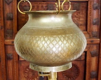 2 liters of antique solid brass orient Ayurveda Shirodhara Dhara vessel -No: 17