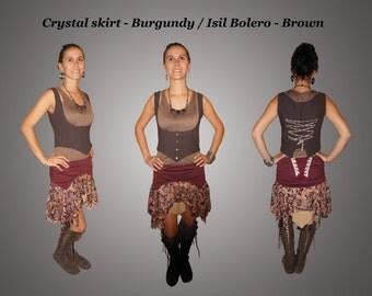 Crystal skirt - Burgundy