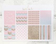 Erin Condren Vertical Weekly Planner Box Stickers | Pink | Blue | Gold | Glitter