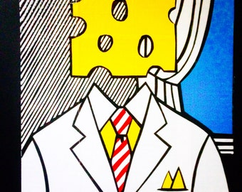 Cheese Head Duct Tape Painting
