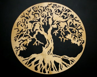 Tree of Life 3D Round Wooden Wall Art - Beautiful Home Decor