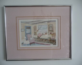 Vintage Helen Downing  Hunter Print