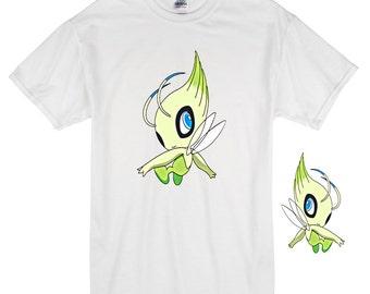 pokemon go,Celebi Transfer,pokemon,DIY pokemon shirt,pokemongo shirt,pokemon t shirt,pokemon digital,nintendo,pokemon tee,Celebi Iron On