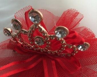 Tiara, crown, princess tiara,princess crown, red tiara, red crown, red princess tiara, red princess crown, baby crown, baby tiara, headband