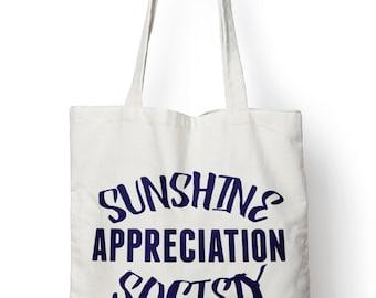 Sunshine Appreciation Society Tote Bag Shopper Holiday Beach Tan Holiday M116