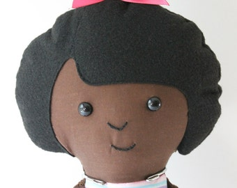 Sophia-Handmade fabric stuffed doll
