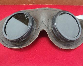 Vintage  Motorcycle Goggles, Retro Vinyl Goggles, Retro Welding Goggles, B-2, Retro Steampunk Safety Goggles,